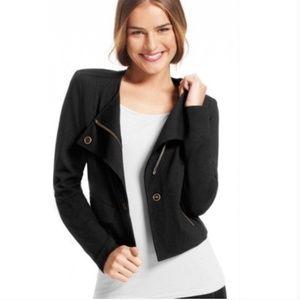 CAbi Zip Up Black Moto Jacket